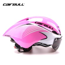 CAIRBULL Cool Bike Helmets For Adults Men Cycle Mountain Biking Helmets Sale With Goggles TT road bike helmets Pink Ladies(China)