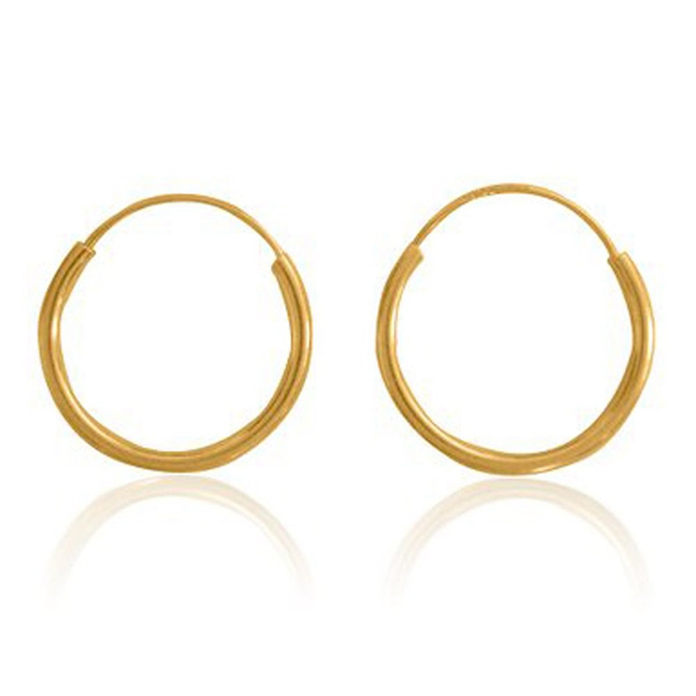 Gold Filled Small Endless Hoop Earrings For Mens Womens 20mm