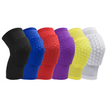 WOERAO 1 PCS Basketball Hooded Spandex Breathable Short Knee Pads Outdoor Football Honeycomb Kneepad Knee Pad Customized(China)