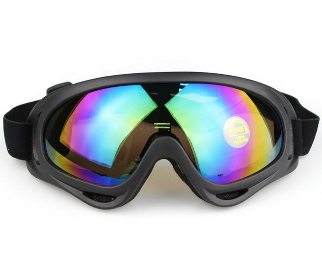 Outdoor Climbing Riding Ski Goggles Colorful Tactical Glare CS Airsoft Paintball Goggles(China (Mainland))