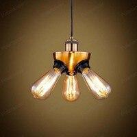 Industriellen Wind Stil Bronze Kronleuchter Schlafzimmer Nachttischlampen Wohnzimmer Lampe Antike Dreibeinigen