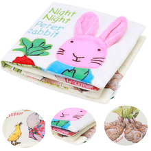 Peter Rabbit Baby Toys Soft Rattles Mobiles Cloth Fabric Rustle Book Infant Newborn Early Learning Educational Toys 0-12Months