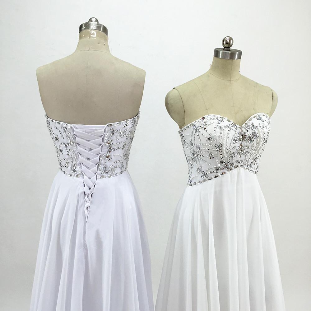 Sexy Chiffon A Line Beach Wedding Dresses Vintage Boho Cheap Bridal Gowns Vestidos De Novia Robe De Mariage Bridal Gown in stock 8