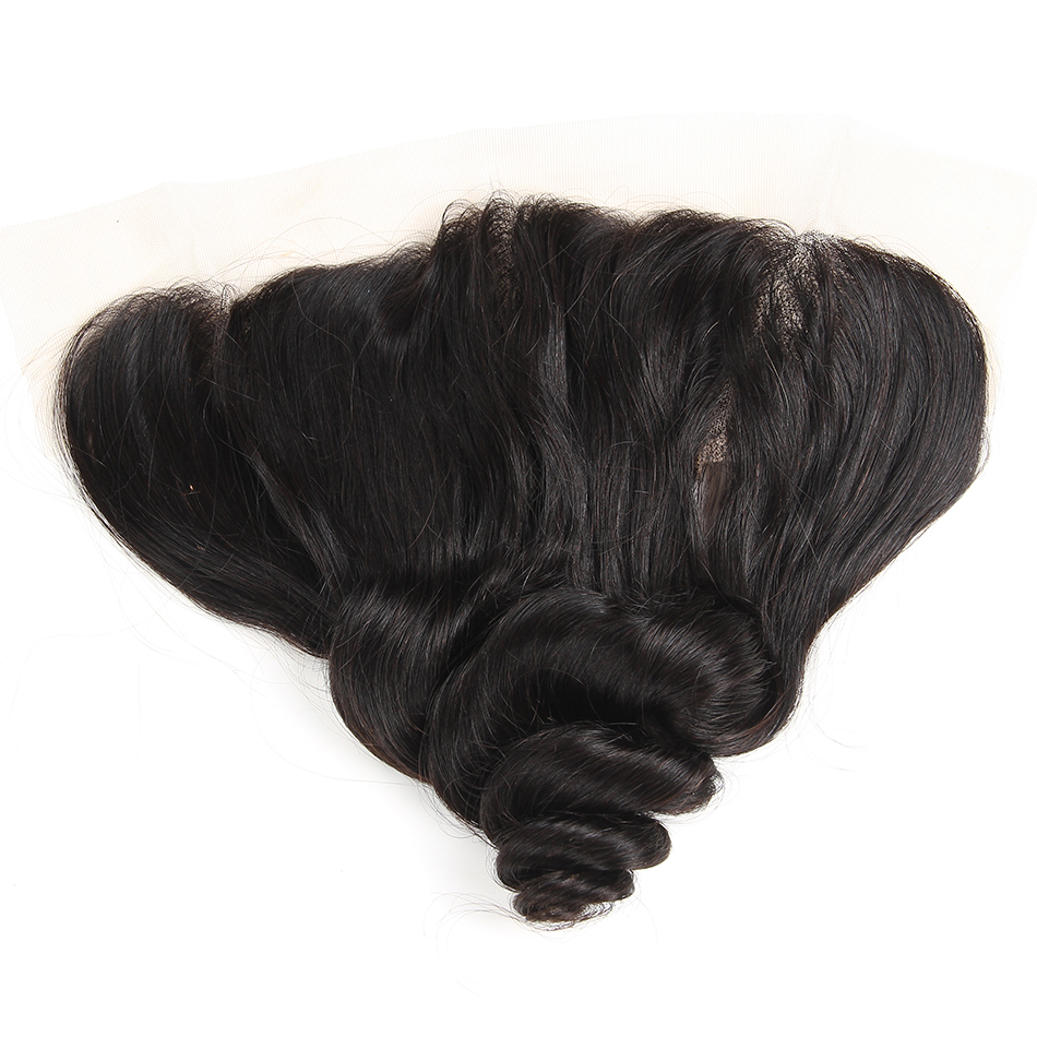 Ali Berrys Hair Loose Wave 13x4 Ear To Ear Lace Frontal Closure Brazilian Hair 10-20 Inch 120% Density Closure Free Shipping(China)