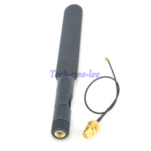 wifi 2.4Ghz/5.8ghz Omni dual-band 5dbi Aerial RP SMA male Antenna + Mini 1.13 PCI U.FL to RP SMA Female WiFi Pigtail Cable 17cm