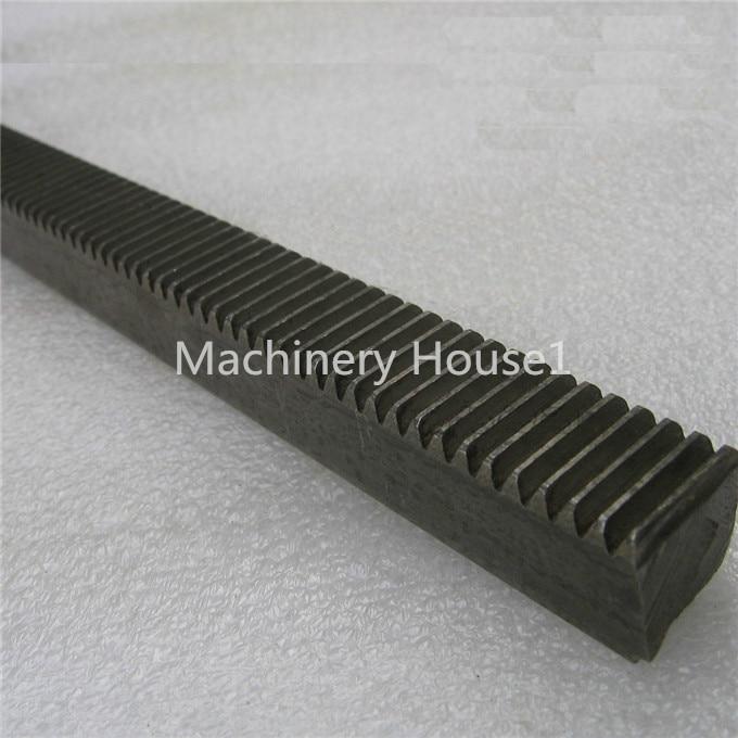 Mod 1 16x16x1000 spur Gear rack right teeth WIDTH 16MM HEIGHT 16MM L1000mm 45# steel Black Oxide CNC parts modulus 1 M1<br>