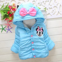 children's jacket cartoon minnie Cashmere Jacket thick infant Winter Coat baby Children Down Jacket For Girl kids jacket boys