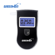 2017 NEW Hot selling Professional Police Digital Breath Alcohol Tester Breathalyzer AT818 Free shipping+10pcs mouthpieces(China)