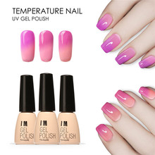 FOCALLURE Temperature Color Changing Nail Gel Polish Long-lasting Soak-off LED UV Chameleon Gel Varnish For DIY