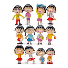 12pcs/set Japanese Anime Mini Kawaii Chi-bi Maruko Figures Toys Handicrafts Decoration PVC Action Figures Model Children Toys(China)