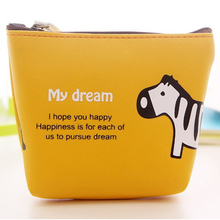 2016 New Band Women Handbags Lovely Style women's wallets Lady Small Wallet Hasp elephant zebra Purse Clutch Bag monedero mujer(China)