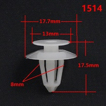 Buy KE LI MI 1514 Auto Nylon Door Trim Panel Clip Fastener White Retainer Snaps Car Body Mercedes-Benz BMW for $13.80 in AliExpress store