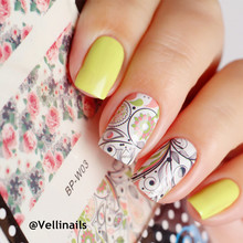BORN PRETTY Flower Leaves Nail Art Water Decals Transfer Stickers BP-W03