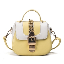 Luxury Brand 2017 Newest Fashion Saddle Women Messenger Bags Unique Desigener Chains Mini Tote Bags Ladies Leather Crossbody Bag