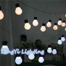 Novelty 5CM Big Ball LED String Light Christmas 3M 5M 10M Fairy String Garland Starry Lights Party Wedding Outdoor Lighting