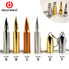 Pen drive 8gb! Gold Silver Metal Bullet Shape Genuine USB 2.0 Flash Pen Drive Disk Memory Sticks 4GB 8GB 16GB 32GB 64GB thumb