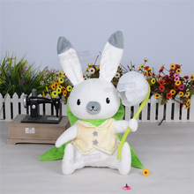 VOCALOID miku Snow Bell bunny rabbit green doll lovely white toy cosplay accessory birthday gift Free Shipping(China)