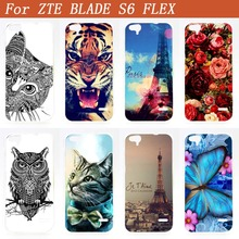 New Popular Cover For ZTE BLADE S6 Flex s6Flex DIY Painting Case Special Eiffel Towers Luxury Design FOR ZTE S6 FLEX Case Cover