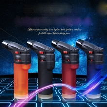 2018 Upgraded version Torch Gun Jet Lighter Adjustable Flame Windproof Butane Refillable Lighters Free Shipping