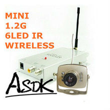 Audio 1.2GHz Wireless CCTV camera 1/4 CMOS 420TVL Night Vision Video Wireless 6LED IR Color Camera(China)