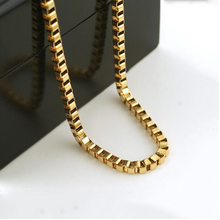 "5MM Gold color VENETIAN BOX CHAIN NECKLACE 31.49"" GIFT WHOLESALE"