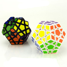 YJ GuanHu Megaminx Magic Cubes Pentagon 12 Sides Gigaminx PVC Sticker Dodecahedron Toy Puzzle Twist