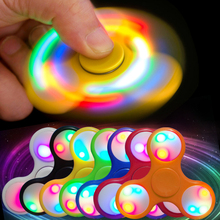 LED Light Hand Finger Spinner Fidget Plastic EDC Hand Spinner For Autism And ADHD Relief Focus Anxiety Stress Toys Gift