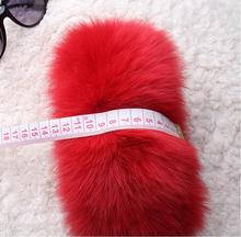Fox fur cuffs Arm Warmers Fur cuffs on sleeves Wrist fur 12cm(China)