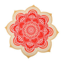 Outdoor Round Lotus Flower Mandala Tapestry Beach Towel Throw Tablecloth Hanging Yoga Mat 150x150cm B2Cshop