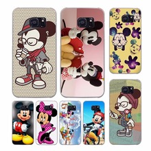 Colorful Minnie Mickey Mouse Hipster design transparent clear hard case cover for Samsung Galaxy S7 S8 Plus S6 S7 edge S5 S4 min(China)