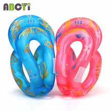 New 0.35mm Thick Inflatable Baby Neck Swim Ring Piscina Water Toy Pool Float Children Adult Arm Floats Swimming Circle Life Vest(China)