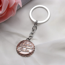 1Pcs/set Hot Cool game Fallout 4 Beer cap shape pendant keychain Fashion car key ring key holder for fans gift