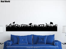 Mad World-Football Crowd Crowd of People Wall Art Stickers Wall Decal Home DIY Decoration Removable Decor Wall Stickers