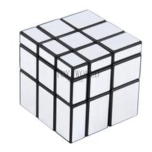Hot 3x3x3 Mirror Blocks Silver Shiny Magic Cube Puzzle Brain Teaser IQ Kid Funny cubo magico Cubiks Juguetes Educativo(China)
