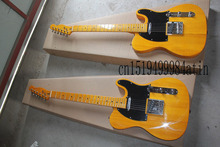 Free shipping New style Yellow telecaster electric guitar in stock 6 strings guitar In Stock  @17
