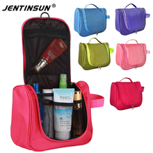Fashion Waterproof Cosmetic Bag Large Women Travel Hanging Toiletry Bag Storage Multifunctional Makeup Organizer Travel Bag(China)
