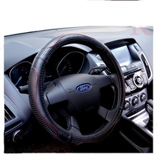 Top Layer Genuine Leather Car Steering Wheel Cover Sport Steering Covers Four Season Auto Supplier Car Steering Wheel Cases(China)