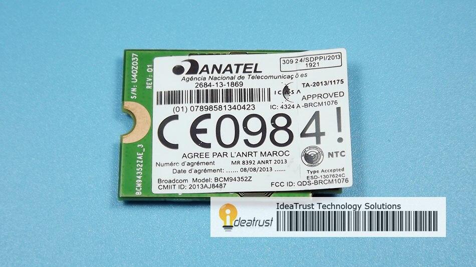 BCM94352Z DW1560 06XRYC 802.11ac NGFF M2 867Mbps BCM94352 BT4.0 WiFi Wireless Network Card<br>