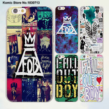 fashion Fall Out Boy bands logo design transparent clear Cases Cover for Apple iPhone 6 6s Plus 7 7Plus SE 5 5s 4s 5c