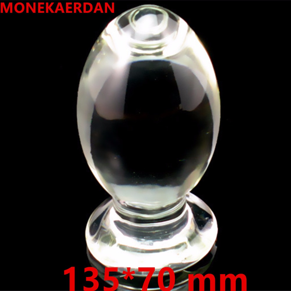 Huge Glass Anal Toys Anus Butt Plug Expandable Stimulator In Adult Games For Couples , Erotic Sex Products For Women And Men Gay<br>