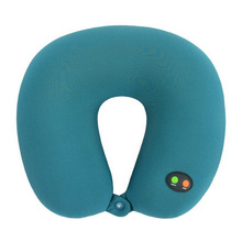 Free Shipping Comfortable Car Travel Pillow U-shaped Battery Operated Ergonomic Neck & Head Massage Pillow Health Care Massage
