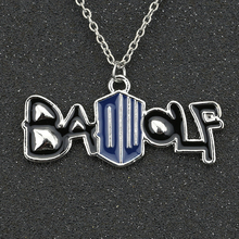 Dr Doctor Who Necklace BADWOLF Bad Wolf DW Silver Pendant Movie Jewelry Wholesale