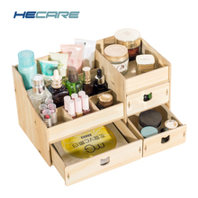 Buy 2018 New Wood Cosmetic Organizer Diy Assembly Wooden Organizador De Maquiagem Pink Makeup Organizer Drawers Factory Jewelry Box for $21.03 in AliExpress store