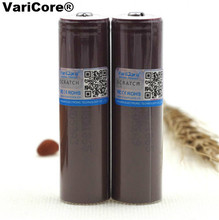 2 pcs . New VariCore HG2 18650 3000 mAh battery 3.6V 20A discharge Dedicated Electronic special battery + plus tip cap for LG