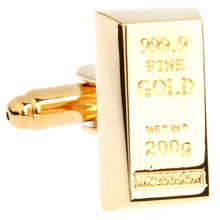 Gold Bar Cufflink Cuff Link 15 Pairs Wholesale Free Shipping(China)