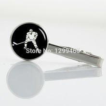New Arrival Interesting hockey game Tie Clips Brand Fashion Apparel metal tie pin Classic simple ice hockey tie clip T 709(China)