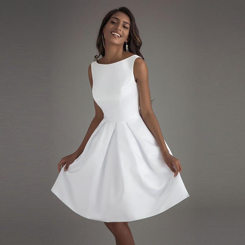 Lorie Short Beach Wedding Dresses 2017 Vestido Noiva Praia Simple