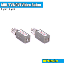 10Pairs CCTV Accessory CCTV Video Balun Transceiver Twisted 1Channel BNC Passive Transceivers For AHD TVI CVI 720P 1080P Camera(China)