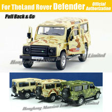 1:36 Scale Diecast Alloy Metal Army Camo Camouflage Military Vehicle Car Model For TheLand Rover Defender Collection Model Toys(China)