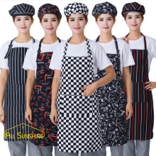 Adjustable Chili Pattern Apron Chef Waiter Kitchen Cook Apron With Pockets Polyester Halter Bib Delantal Cocina For Man Woman